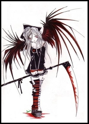 anime bloody demon girl  so epic XD